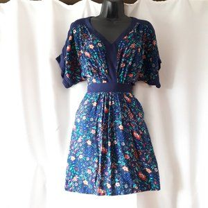 *2/$14* Forever 21 Blue Floral Dress Size XS